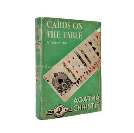 Cards On the Table by Agatha Christie First Edition Fourth Impression The Crime Club by Collins 1950